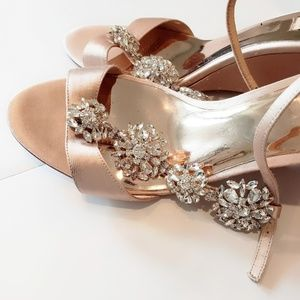 Badgley Mischka jeweled sandals